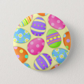Joyous Easter Eggs Round Button
