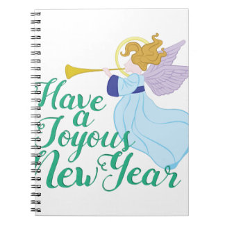 Joyous New Year Spiral Notebook