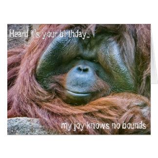 Joyous Orangutan Card
