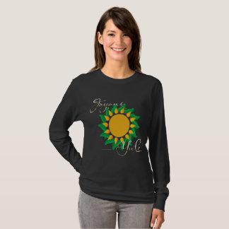 Joyous Sun Wreath Ladies Long Sleeve Shirt