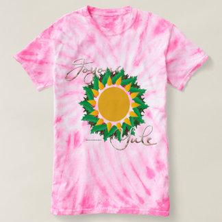 Joyous Sun Wreath Ladies Tie-Dye T-Shirt