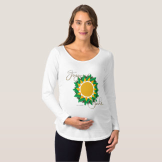 Joyous Sun Wreath Maternity Long Sleeve Shirt