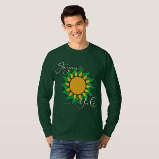 Joyous Sun Wreath Men's Long Sleeve Shirt
