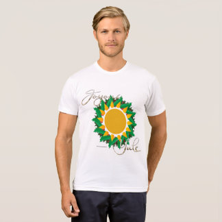 Joyous Sun Wreath Men's Poly-Cotton T-Shirt