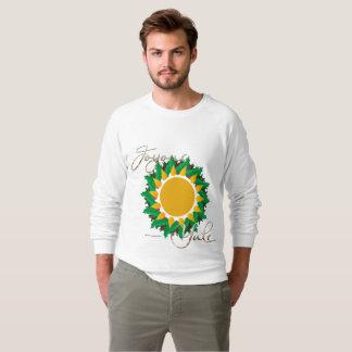 Joyous Sun Wreath Men's Raglan Sweatshirt