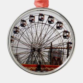 JoyRides Picnic Spot NewDelhi India Festivals Silver-Colored Round Ornament
