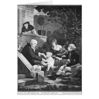 Joys of being a father, c.1797 card