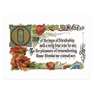 Joys of Friendship Postcard