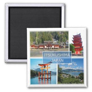 JP * Japan - Itsukushima - Miyajima Square Magnet