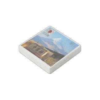 JP Japan - Views of Mount Fuji Stone Magnets