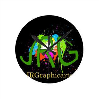 JRGraphicarts Round Clock