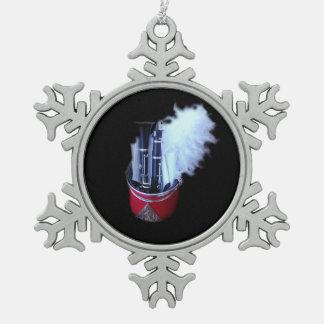 JSU Clairnet 2 Snowflake Pewter Christmas Ornament