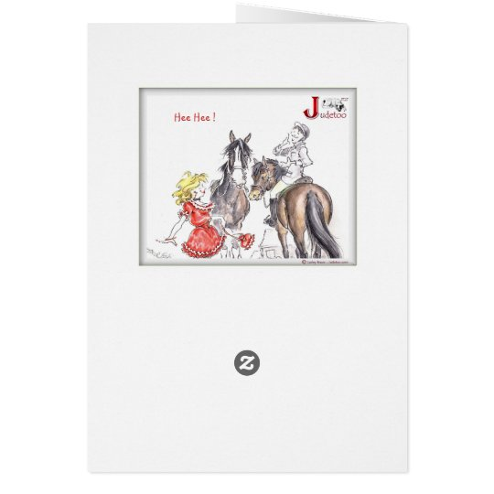 """JT27 judetoo  """"Not that Kind of Horsing around"""" Card"""
