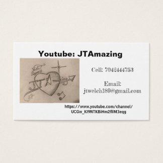 JTAmazing youtube business Business Card