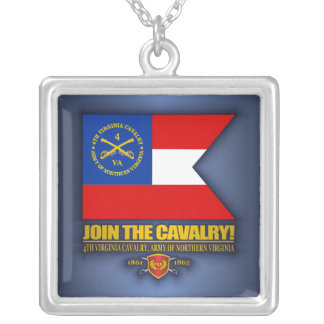 JTC (4th Virginia Cavalry) Silver Plated Necklace