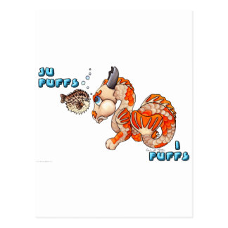 Ju Puffs, I Puffs cute Koi baby dragon Postcard