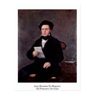 Juan Bautista De Muguiro By Francisco De Goya Postcard