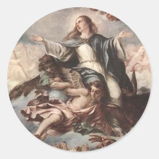 Juan de Valdes Leal- Assumption of the Virgin Round Sticker