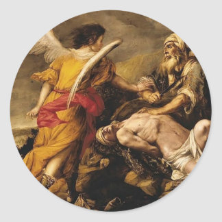 Juan de Valdes Leal- The Sacrifice of Isaac Classic Round Sticker
