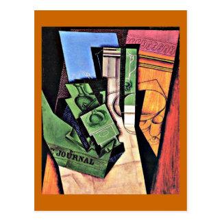 Juan Gris art: Breakfast, painting by Juan Gris Postcard