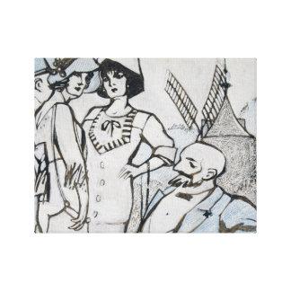 Juan Gris - Aux courses des Longchamps Canvas Print