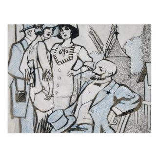 Juan Gris - Aux courses des Longchamps Postcard