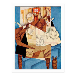 Juan Gris Breakfast Postcard