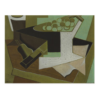 Juan Gris - Bunch of Grapes and Pear Postcard