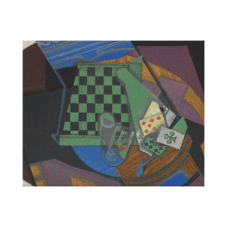Juan Gris - Checkerboard and Playing Cards Canvas Print