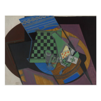 Juan Gris - Checkerboard and Playing Cards Postcard