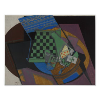 Juan Gris - Checkerboard and Playing Cards Poster