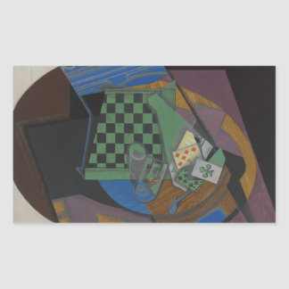 Juan Gris - Checkerboard and Playing Cards Sticker