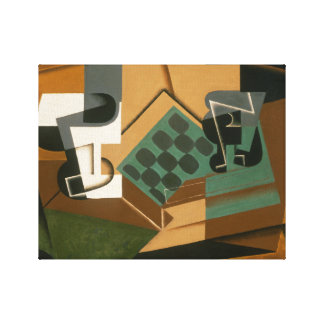 Juan Gris - Chessboard, Glass, and Dish Canvas Print