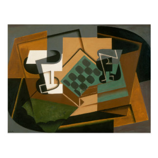Juan Gris - Chessboard, Glass, and Dish Postcard