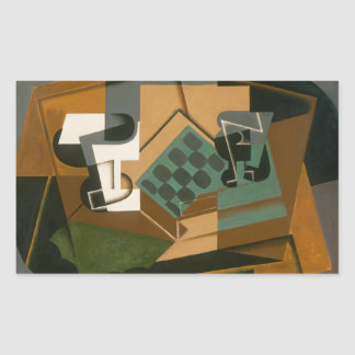 Juan Gris - Chessboard, Glass, and Dish Sticker