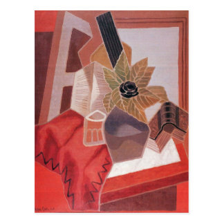 Juan Gris - Flowers on the table Postcard