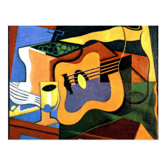 Juan Gris - Guitar and Bottle Postcard