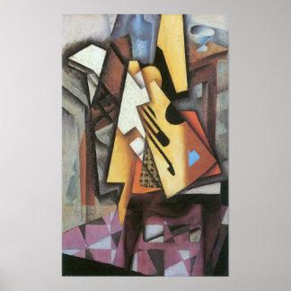 Juan Gris - Guitar and stool Poster