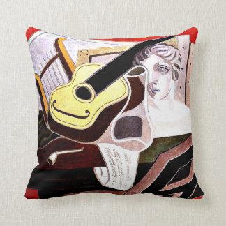 Juan Gris - Musician's Table, Juan Gris painting Throw Pillow