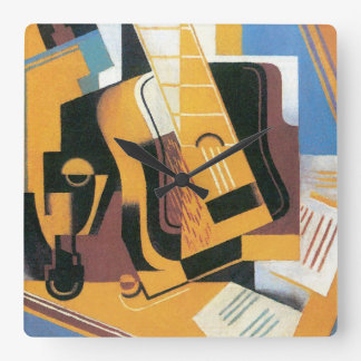 Juan Gris - Photograph of The Guitar Abstract Art Square Wall Clock