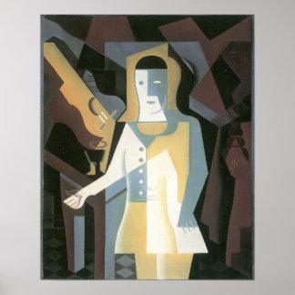 Juan Gris - Pierrot Poster