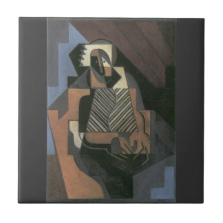 Juan Gris - Sitting peasant woman Tile
