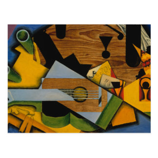 Juan Gris - Still Life with a Guitar Postcard