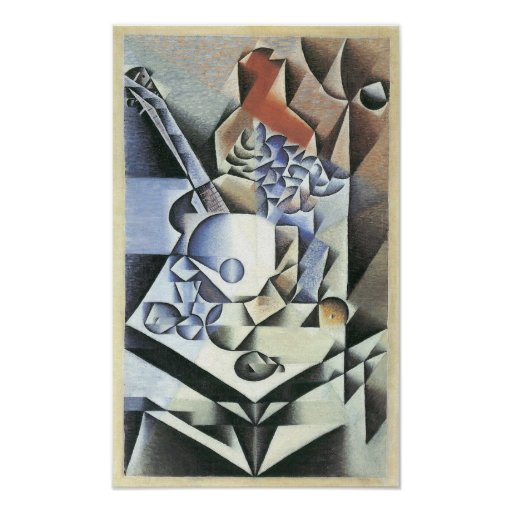 Juan Gris - Still Life with Flowers Poster