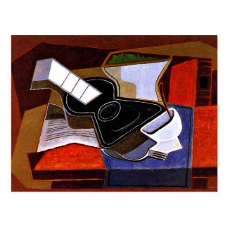 Juan Gris - The Black Guitar Postcard