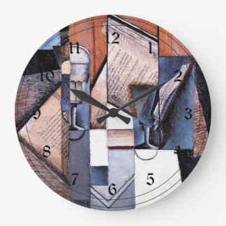 Juan Gris - The Book Large Clock