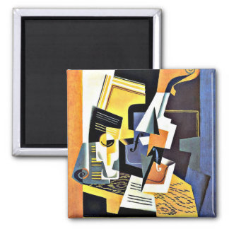 Juan Gris: Violin and Glass Magnet