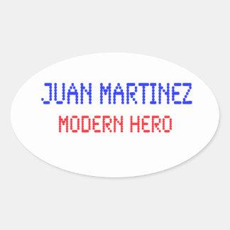 Juan Martinez - Modern Hero Oval Sticker