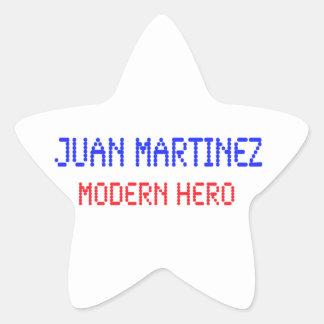 Juan Martinez - Modern Hero Star Sticker