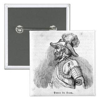 Juan Ponce de Leon 2 Inch Square Button